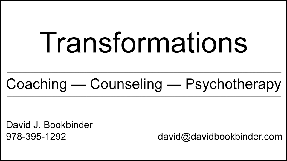 Coaching - Counseling - Psychotherapy