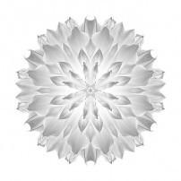 Giant White Dahlia V (b&w, white)